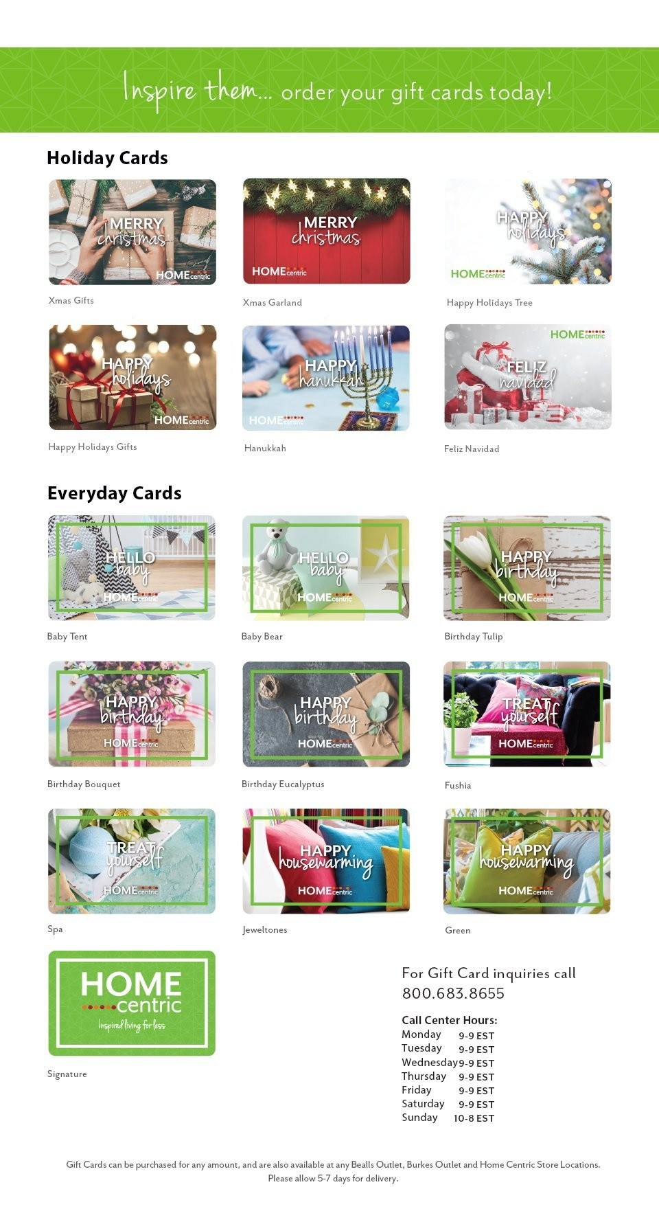 Home Centric Giftcards